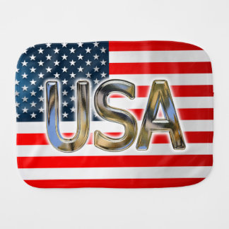 USA-Flagge Baby Spucktuch