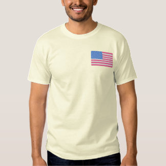 USA Flagge Besticktes T-Shirt
