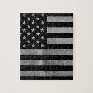USA-Flagge BW Jigsaw Puzzle