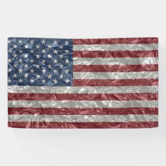 USA-Flagge - gekrümmt Banner
