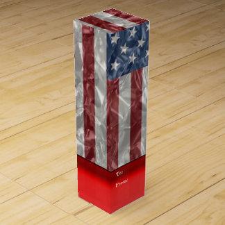 USA-Flagge - gekrümmt Weinbox