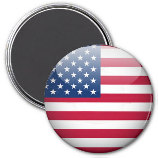 USA-Flagge-Knopf-runder Magnet Runder Magnet 7,6 Cm