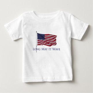 USA-Flagge - mag sie lang wellenartig bewegen Baby T-shirt