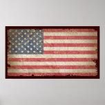 USA-Flagge Posterdruck
