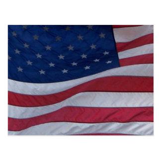 USA-Flagge Postkarte