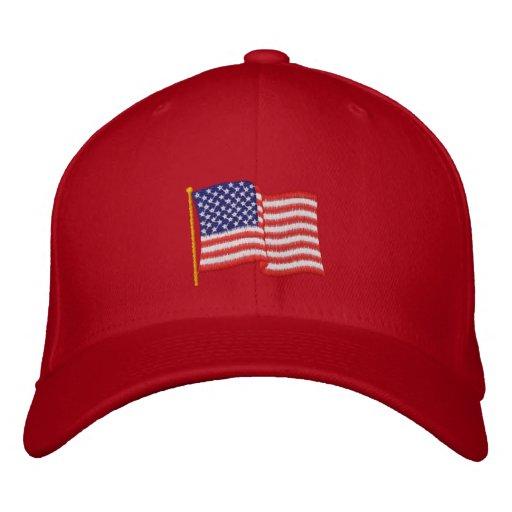 USA-Flagge RG Bestickte Baseballkappen
