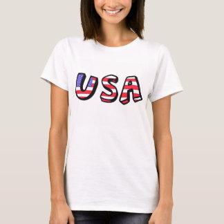 USA-Flagge-rotes weißes blaues Trägershirt T-Shirt