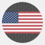 USA-Flagge Runder Aufkleber