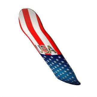 USA-Flagge Skateboarddeck
