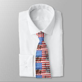 USA-Flagge spielt die patriotischen Streifen Individuelle Krawatte