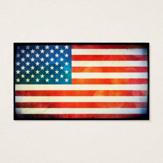 USA-Flagge Visitenkarte