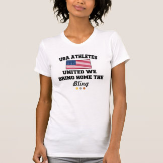 USA-Flaggen-AthletenInternational/Olympia-Shirt T-Shirt