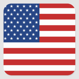USA-Flaggen-Aufkleber Quadratischer Aufkleber