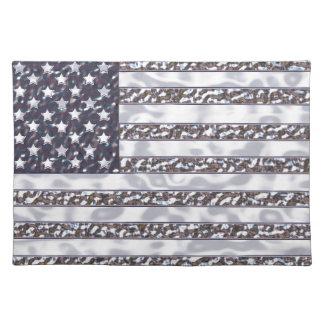 USA-Flaggen-Chrom Stofftischset