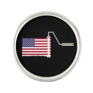 USA-Flaggen-Farben-Rolle Anstecknadel