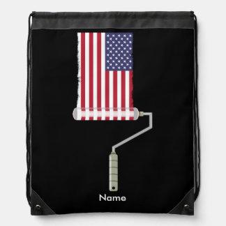 USA-Flaggen-Farben-Rolle Turnbeutel