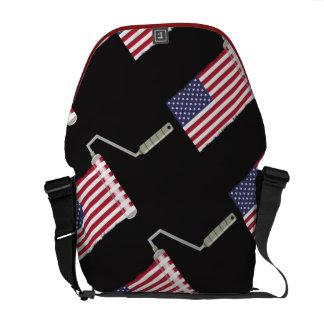 USA-Flaggen-Farben-Rollen-US Flagge Kuriertasche