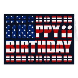 USA-Flaggen-Geburtstags-Karte Grußkarte