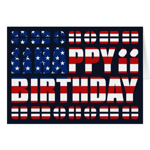 USA-Flaggen-Geburtstags-Karte