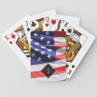 USA-Flaggen-Geschenk für Soldat-kundenspezifisches Spielkarten