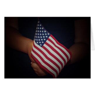USA-Flaggen-Gruß-Karte mit weißem Umschlag Karte