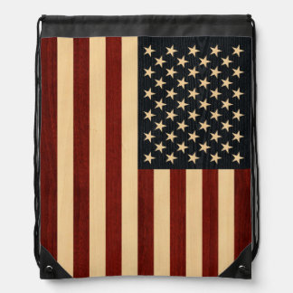 USA-FLAGGEN-HOLZ TURNBEUTEL