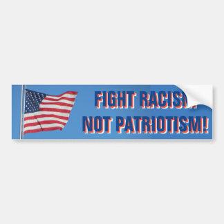 USA-Flaggen-Kampf-Rassismus-nicht Patriotismus Autoaufkleber