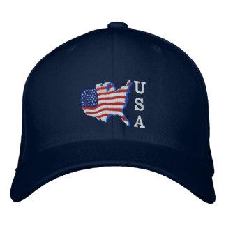 USA-Flaggen-Karte Notiz: Bestickte Kappe