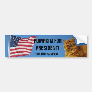 USA-Flaggen-Kürbis-Katze für Präsidenten Autoaufkleber