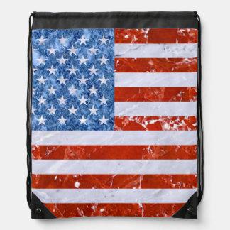 USA-FLAGGEN-MARMOR SPORTBEUTEL