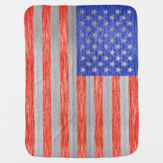 USA-FLAGGEN-METALL 1 BABYDECKEN