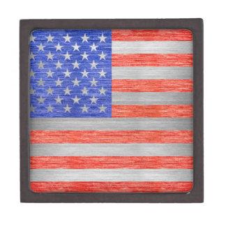 USA-FLAGGEN-METALL 1 SCHMUCKKISTE