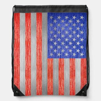 USA-FLAGGEN-METALL 1 TURNBEUTEL