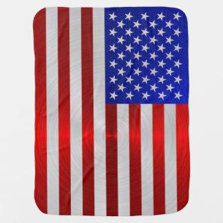 USA-FLAGGEN-METALL 2 Baby-Decken