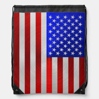 USA-FLAGGEN-METALL 2 TURNBEUTEL