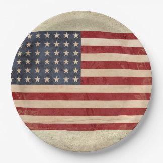 USA-Flaggen-Papier-Teller Pappteller