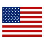 USA-Flaggen-Postkarte