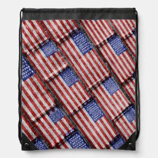USA-Flaggen-Schmutz-Muster Sportbeutel