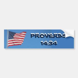 USA-Flaggen-Sprichwort-14:34 Redlichkeit Autoaufkleber