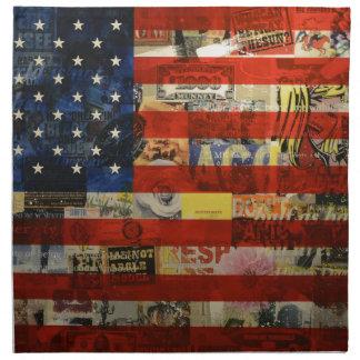 USA-Flaggen-Staat-amerikanische Flagge Amerika Stoffserviette