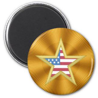 USA-Flaggen-Stern Kühlschrankmagnet