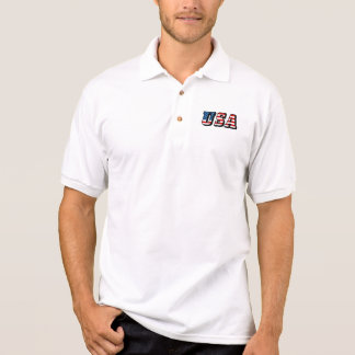 USA-Flaggen-Text-Shirt Polo Shirt