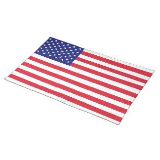 USA-Flaggen-Tischsets hergestellt in Amerika Tischsets