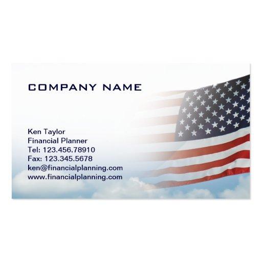 USA-Flaggen-Visitenkarte-rotes weißes u. Blau mit