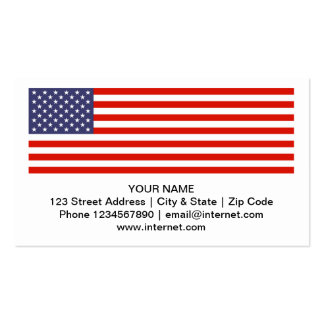 USA-Flaggen-Visitenkarten
