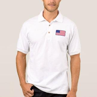 USA-Flaggengolfpolo Polo Shirt