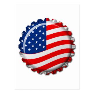 USA-Flaschenkapsel Postkarte