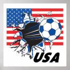 USA-Fußball-Team Poster