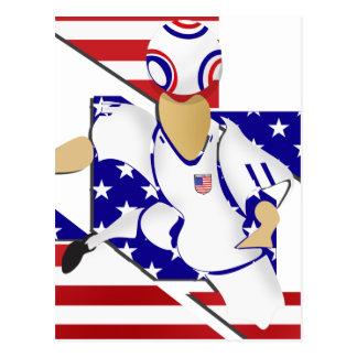 USA-Fußballspieler-Fußballtitel-Kunstentwurf Postkarte