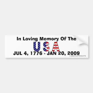USA-Gedächtnis-Autoaufkleber Autoaufkleber